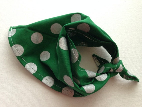Poocci Green & Silver Polka Dots | Dog Bandana