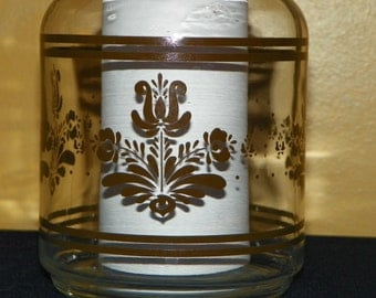 Vintage Pfaltzgraff Brown Yorktowne Clear Juice Carafe or Jug