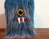 """Blueberry Frost 4"""" x 6"""" Cyclops Monster Sketchbook - One Yellow Eye"""