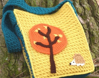Woodland Book Bag - PDF Crochet Pattern - Instant Download