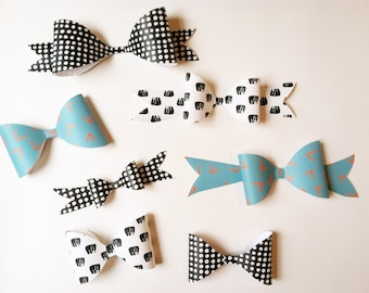 PAPER BOW // Assorted Prints and sizes // Order single bows or a pack of 5