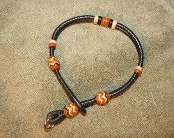 Braided Kangaroo Leather Dog  Collar - 8 Plait, Pineapple Knots - Made To Order