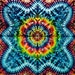 """78""""x58"""" Tie Dye Tapestry by Emerald Spring  Tie Dye Rainbow red blue green wall hanging"""