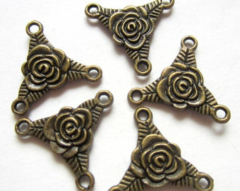 10 Tibetan Style jewelry connectors antique bronze  jewelry findings double sided charms  20mm long, 21mm wide, 3mm thick, hole: 2mmF1114