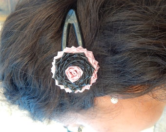 Duck Tape Flower Hair Barrettes