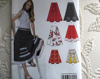 New Look skirt Pattern 6944 - Misses' seven sizes in one, Skirt, Sz 4 thru 16 Factory Folds