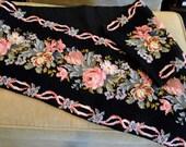 Long Needlepoint Table Runner Roses Mantle Cover