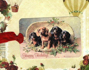 Christmas Tags, Dog Lover, Dachshund, Gift Tags, Weiner Dog