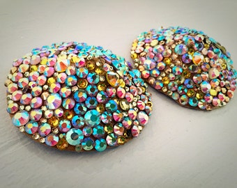 Luxe Swarovski Crystal and Leather Pasties