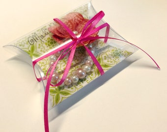Add On Gift Packaging, Personalized Gift Box, Optional Custom Message, Bracelet, Necklace Pillow Box