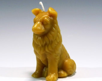 Beeswax Collie Candle Collie Candle Dog Candle 100 % Pure Beeswax Candle