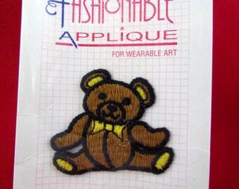 Vintage Wrights Teddy Bear Applique