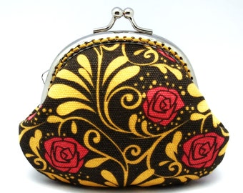 Red roses - Small clutch / Coin purse (S-090) S2