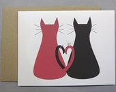 Cats with Wedding Rings (Congratulations) A2 Folded Card