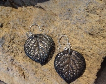 Leaf earrings. Naturally beautiful and one of a kind pieces of nature hand cast from real leaves.