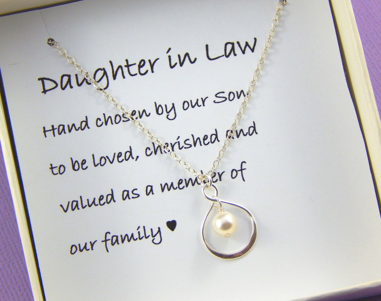 Daughter In Law Necklace Daughter In Law GiftDaughter In Law