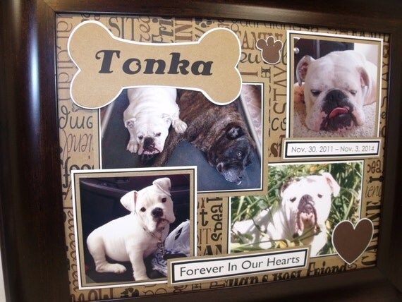Dog Memorial Picture Frame Personalized 11x14 Frame