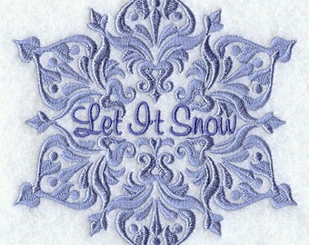 LET IT SNOW- Machine Embroidery Quilt Blocks (AzEB)