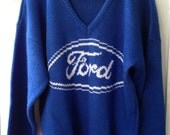Vintage Men's Ford Motor Company Sweater, 1970's