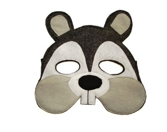 Children's Woodland Animal SQUIRREL Felt Mask