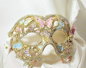CUSTOM Masquerade Ball Mask - Rhinestone Mask, Venetian Mask, Wedding Mask, Butterfly Mask, Masquerade Mask - The Butterfly Princess