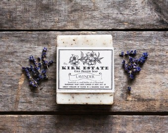 Lavender // large bar // cold process soap // handmade soap // organic ingredients // all natural // vegan artisan soap // lightly scented