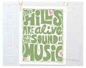 The Hills are Alive with the Sound of Music, Austria, Musical, Wall Art, Music Gift, Outdoors, Mountains, Singing, Gift for music lover