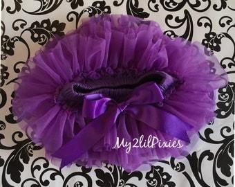 Purple TUTU SKIRT ruffles all around,Chiffon Baby Bloomer, Diaper cover, photo prop, newborn bloomer ready to ship