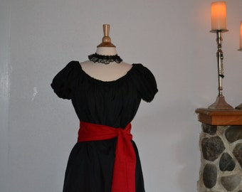 Victorian Christmas Valentine's Day Renaissance Fantasy Medieval Gown Dress with Sash Costume Sizes