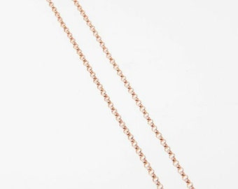30 Inch Rose Gold Filled 1.4mm Rolo Chain Necklace - Custom Lengths Available