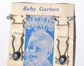 Vintage baby garters 1950s on original card pin on garters My Mother is Smart