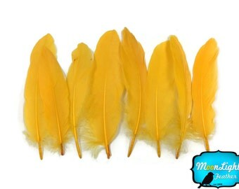 Goose Feathers, 1 Pack - GOLD Goose Satinettes loose feathers 0.3 oz. : 3776