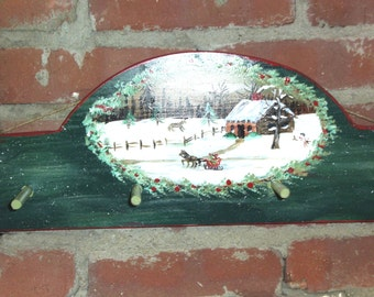 Peg rack handpainted by the Old Country Painter  (me)