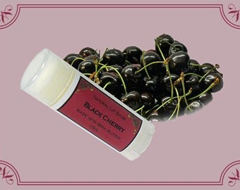 BLACK CHERRY Lip Balm made with Shea Butter - .15oz Oval Tube