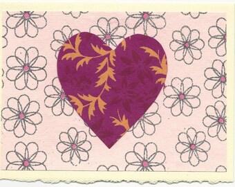 Fancy  Heart Note Card - Large