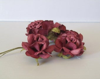 Wine colored paper Roses