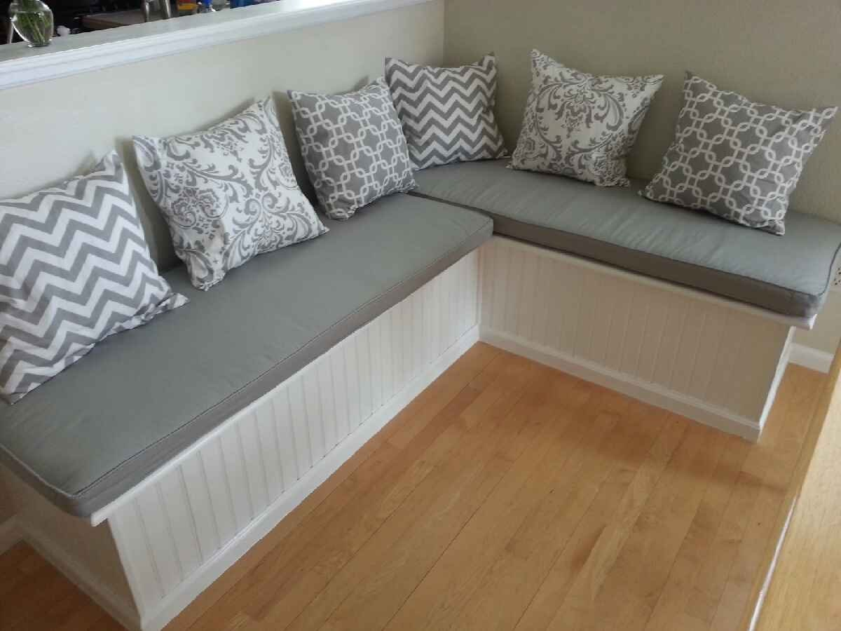 Custom Cushion Sewn Banquette Seat Bench With