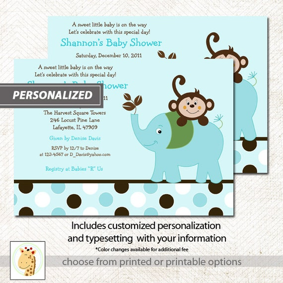 Shower Invitatons Print Your Own or Printed Baby Shower Invitations by