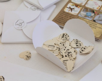 Confetti made from Vintage Sheet Music