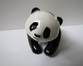 Vintage Panda Figurine, Beswick of England, Black and White, Porcelain, Collectible Figure, Endangered Species