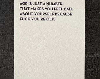 just a number. letterpress card. #903