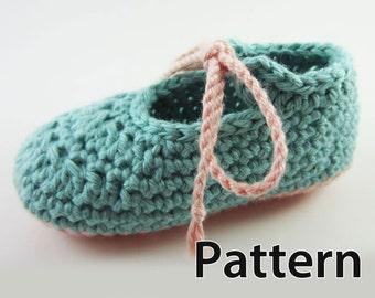 Crochet Pattern - Baby shoes pattern, crochet baby pattern, booties crochet, baby booties pattern, baby crochet pattern baby