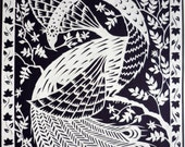White Peacock - Original Papercut Art
