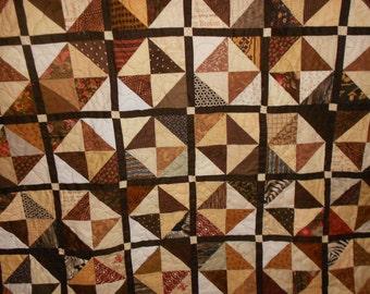 Queen Size quilt Full size quilt Brown 110