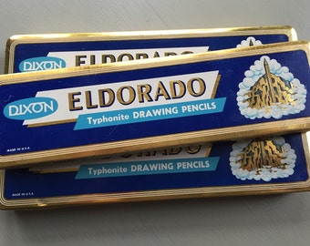 vintage collection pencil tins Dixon Eldorado set of 3
