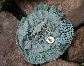 Handmade Tattered Corsage Brooch