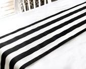 Black & white stripe table runner, Choose length, Wedding table runner, Dining table runner, Table decor, Kate Spade Theme,  Bridal shower