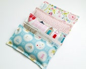 Dried French Lavender Sachets, Set of 4 in Beautiful English Fabrics