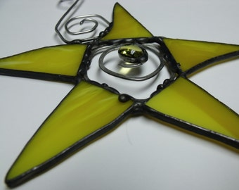 Wonky Stained Glass Star Ornament Suncatcher