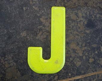 Vintage Letter J Steel Marquee Sign Metal Letter Signage